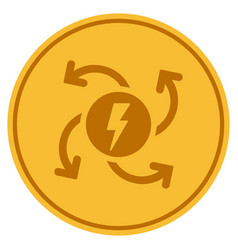Electric generator gold coin vector