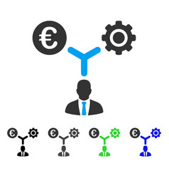Euro financial development flat icon vector