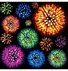 Fireworks and Explosion 3D Isolated Design Element vector