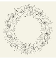 floral wreath - wedding design vector image
