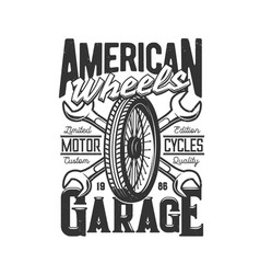 garage custom motorcycle motor car races speedway vector image