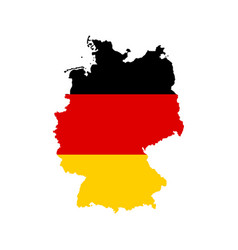Germany outline and flag vector