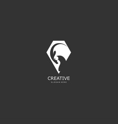 goat abstract concept logo vector image