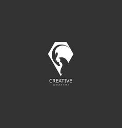 Goat abstract concept logo vector