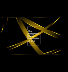 gold ribbon wave on a black background layout vector image