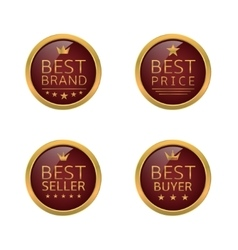 Golden best labels vector