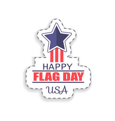 happy flag day usa sticker vector image
