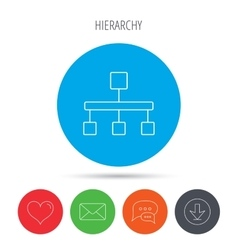 Hierarchy icon Organization chart sign vector