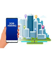 Hiring and recruitment job candidates and job vector