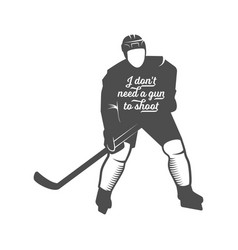 hockey motivational quotes vector image