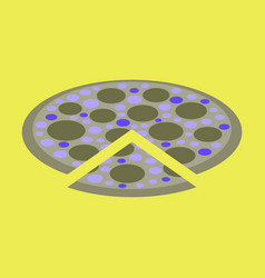 Icon in flat design for restaurant pizza vector