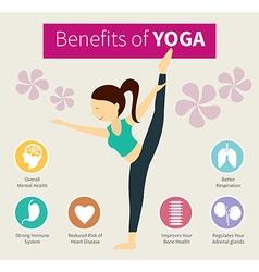 Infographic benefits yoga vector