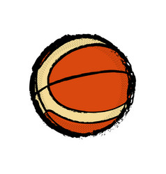 Isolated basketball ball icon vector