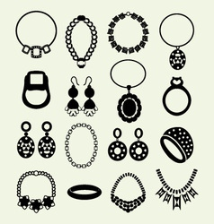 Jewellery set women accessories vector