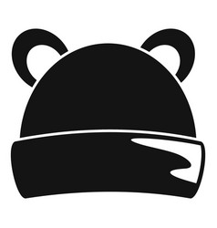kid winter headwear icon simple style vector image