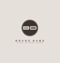letter bd logo - minimal business logo vector image
