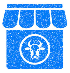 Livestock farm icon grunge watermark vector