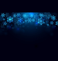 merry christmas and happy new year with snowflake vector image