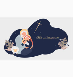 Merry christmas birth savior christ vector