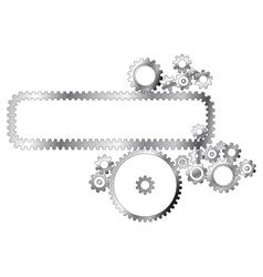 metal cogwheels vector image