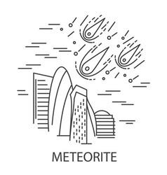 meteorite natural disaster vector image