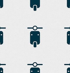 motorcycle icon sign Seamless pattern with vector image