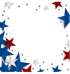 Paper star on white background with copy space vector