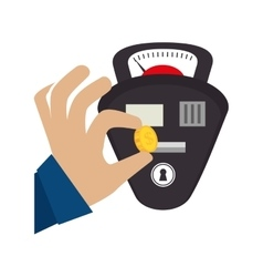 Parking meter isolated icon vector