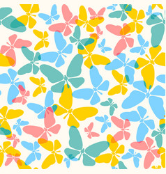 pattern with colorful butterflies vector image