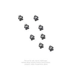 Paw prints pattern11 vector