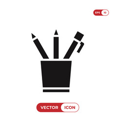 pencil case icon vector image