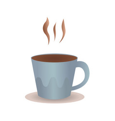 perfect cup of coffee with steam vector image