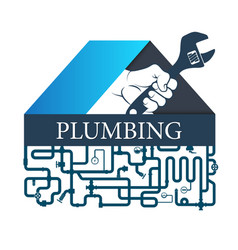 plumbing repairs and piping vector image