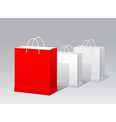 Promotional paper bag vector image