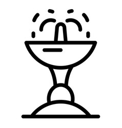 public fountain icon outline style vector image