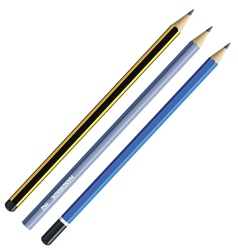 realistic pencil vector image