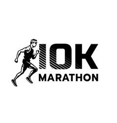 Running marathon 10 thousand participants logo vector