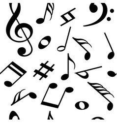 seamless pattern with music notes vector image