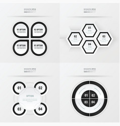 Set of presentation design black and white color vector