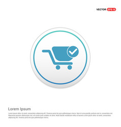 Shopping cart and plus sign - white circle button vector