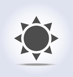 Sun icon on gray background vector