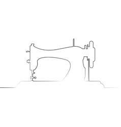 tailor logo sewing machine logo template vector image