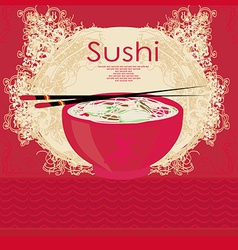 template of traditional Japanese food menu vector image