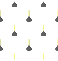 Toilet plunger cartoon icon for web vector