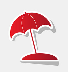umbrella and sun lounger sign new year vector image