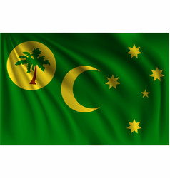 Waving cocos islands vector