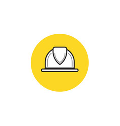 worker helmet worker security filled icon vector image