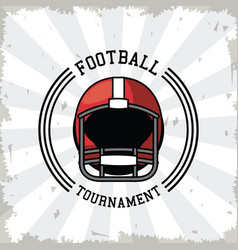 american football tournament vector image
