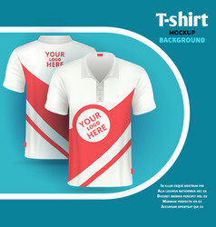 Mens t-shirt mockup advertising concept vector