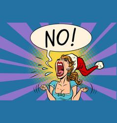 no screams santa woman vector image